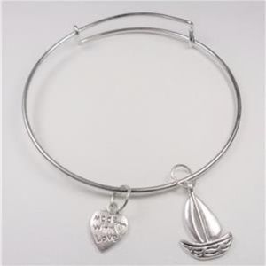 Jewelry - NAUTICAL SAILBOAT AND HEART SEA LIFE BRACELET